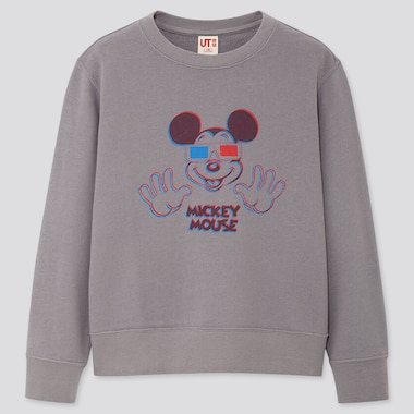 KIDS MICKEY ART KOICHIRO TAKAGI SWEATSHIRT, GRAY, medium