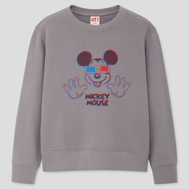 KIDS MICKEY ART KOICHIRO TAKAGI SWEATSHIRT, GRAY, large
