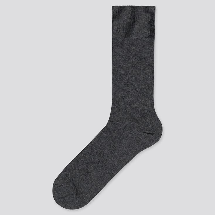 MEN SUPIMA® COTTON LINKS SOCKS, DARK GRAY, large