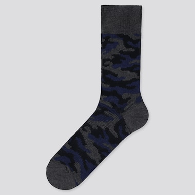 MEN CAMOUFLAGE SOCKS, NAVY, medium