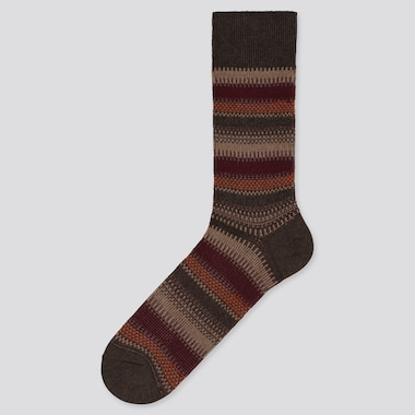 MEN STRIPED SOCKS, BROWN, medium