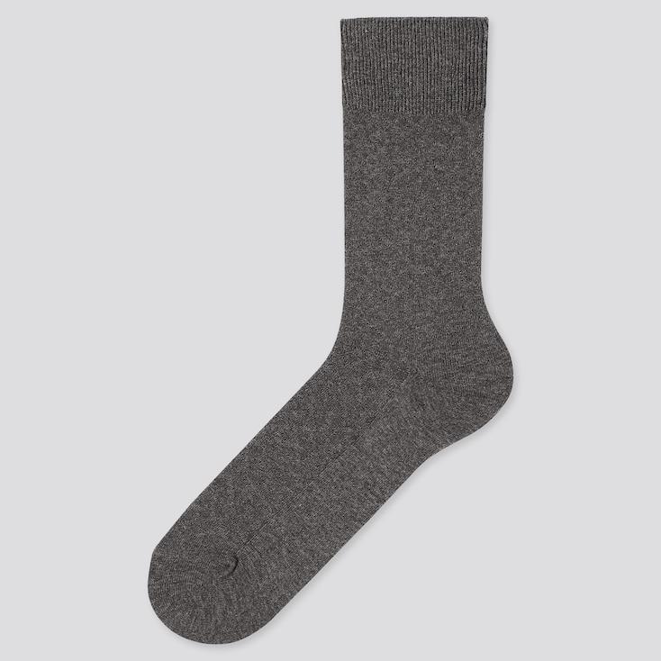 Men Diagonal Socks, Dark Gray, Large