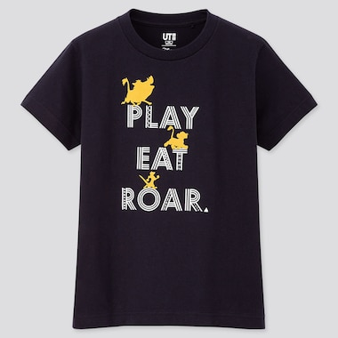 KIDS THE LION KING UT (SHORT-SLEEVE GRAPHIC T-SHIRT), NAVY, medium