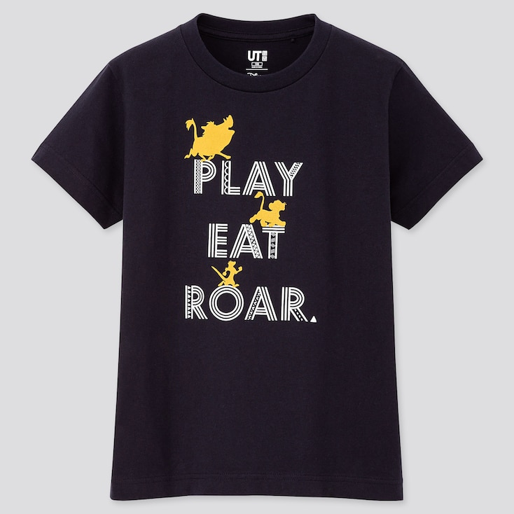 KIDS THE LION KING UT (SHORT-SLEEVE GRAPHIC T-SHIRT), NAVY, large
