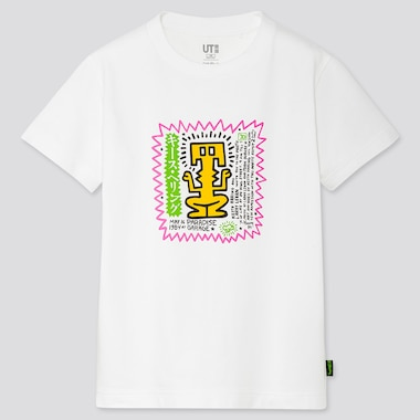 KIDS KEITH HARING UT(SHORT-SLEEVE GRAPHIC T-SHIRT), WHITE, medium