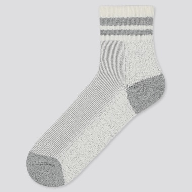 MEN PLATING LINE HALF SOCKS, GRAY, medium
