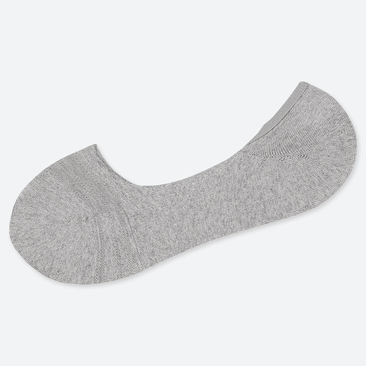 Men Back Pile Low-Cut Socks, Gray, Large