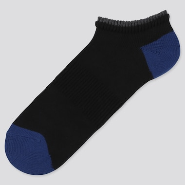 MEN LAYERED SHORT SOCKS, BLACK, medium