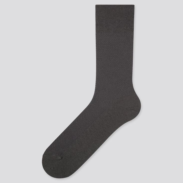 MEN HEATTECH PIQUE SOCKS, DARK GRAY, large