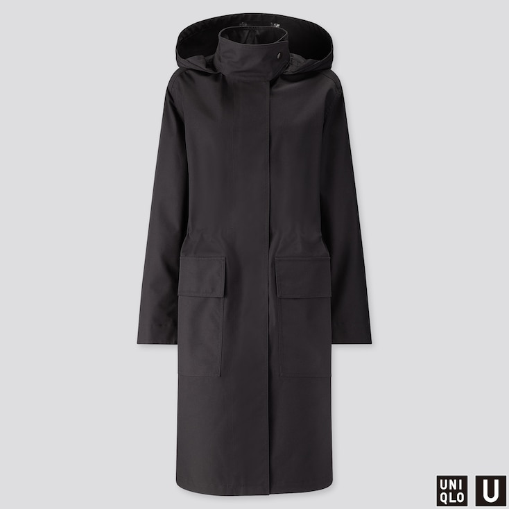 Women U Blocktech Hooded Coat, Black, Large