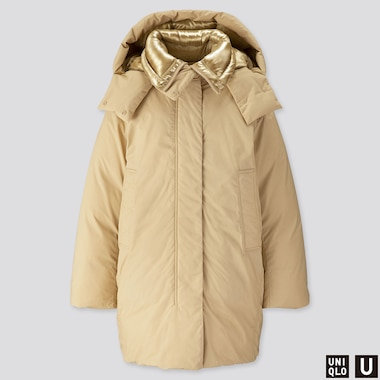 WOMEN U PADDED PARKA, BEIGE, medium