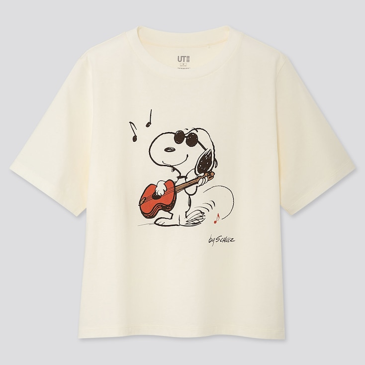WOMEN PEANUTS UT (SHORT-SLEEVE GRAPHIC T-SHIRT), OFF WHITE, large