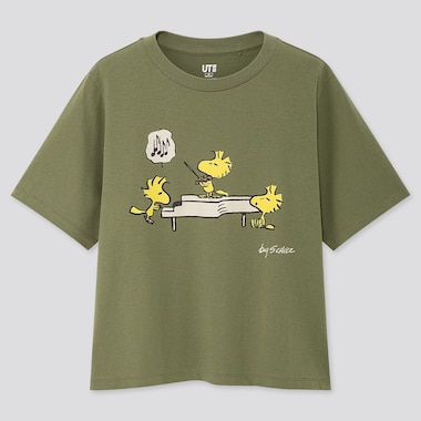 WOMEN PEANUTS UT (SHORT-SLEEVE GRAPHIC T-SHIRT), GREEN, medium