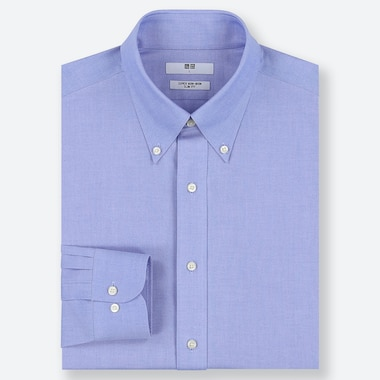 HERREN BÜGELFREIES HEMD MIT BUTTON-DOWN-KRAGEN (SLIM FIT)