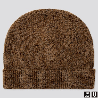 U KNITTED CAP, BROWN, medium