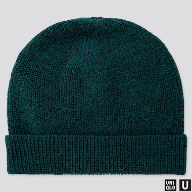 U KNITTED CAP, GREEN, medium
