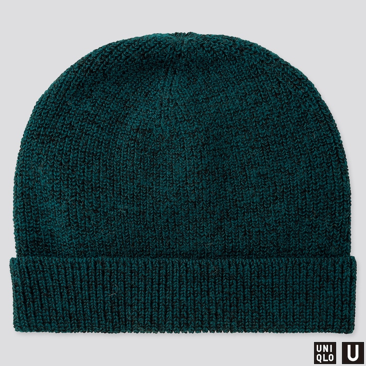 U KNITTED CAP, GREEN, large