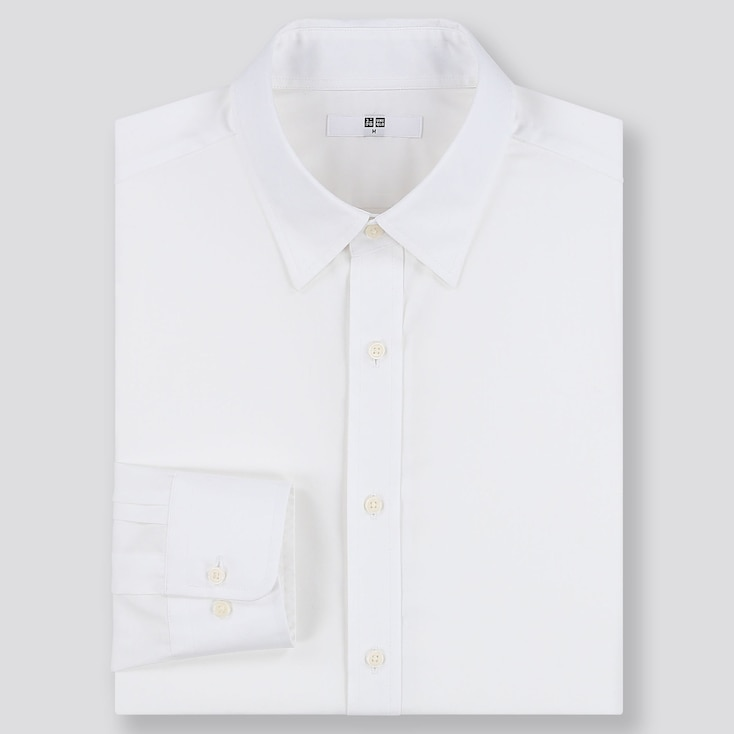 MEN EASY CARE REGULAR-FIT LONG-SLEEVE SHIRT (ONLINE EXCLUSIVE), WHITE, large