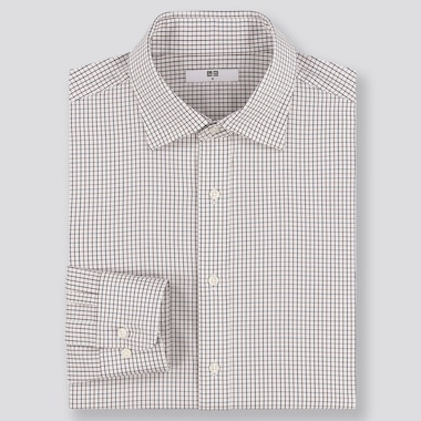 MEN EASY CARE REGULAR FIT CHECKED SHIRT