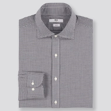 MEN EASY CARE SLIM FIT CHECKED SHIRT