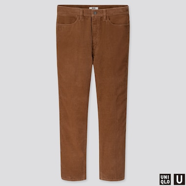 MEN U STRAIGHT CORDUROY JEANS, BROWN, medium