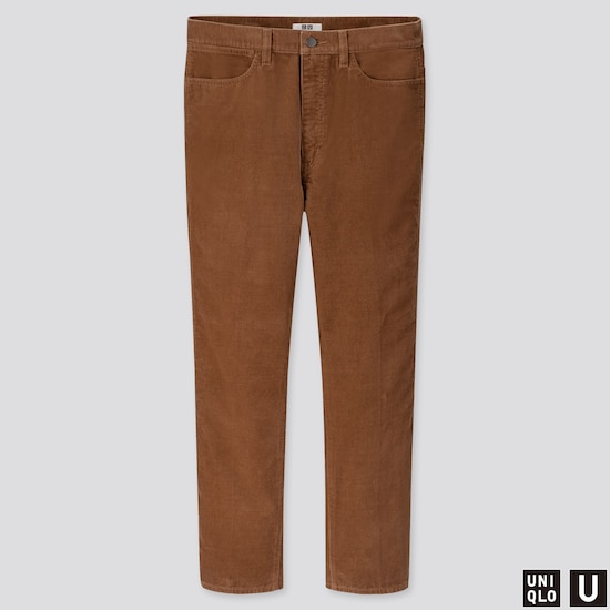 Men Uniqlo U Corduroy Straight Leg Jeans (1) by Uniqlo