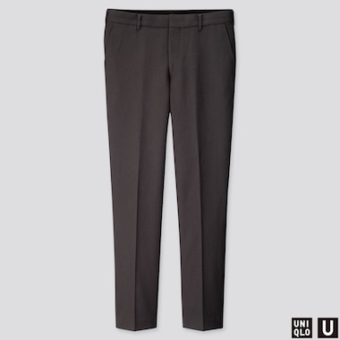 MEN U WIDE-FIT PANTS, DARK GRAY, medium