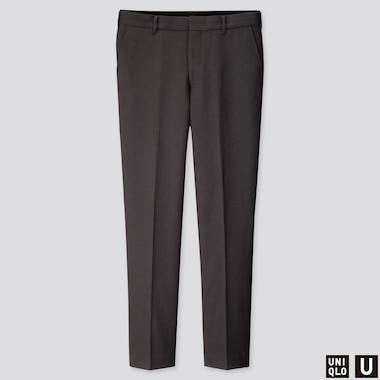 Men U Wide-Fit Pants, Dark Gray, Medium