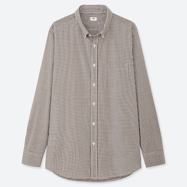 MEN EXTRA FINE COTTON BROADCLOTH LONG-SLEEVE SHIRT, BROWN, medium