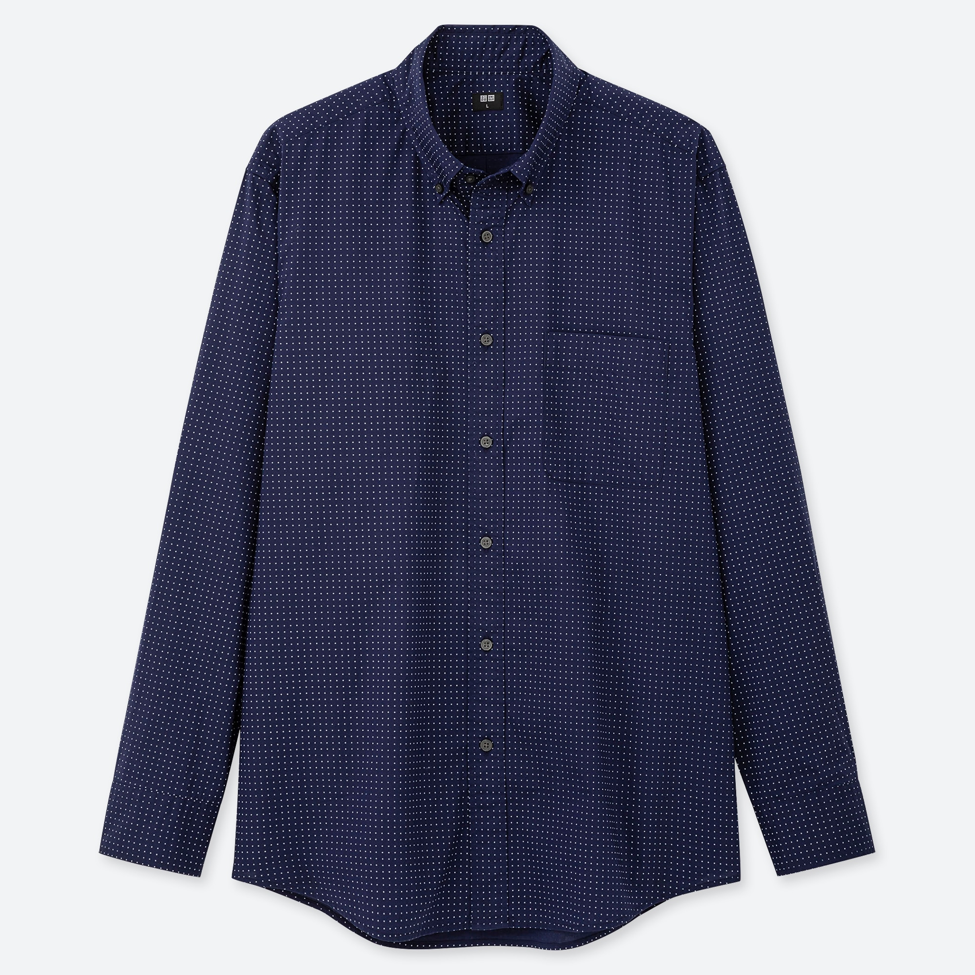 men extra fine cotton broadcloth long-sleeve shirt