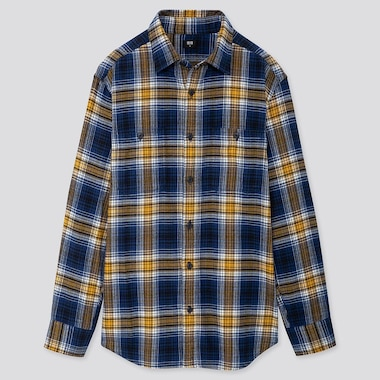 MEN FLANNEL REGULAR FIT CHECKED LONG SLEEVED SHIRT