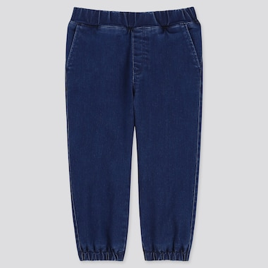 BABY WARM GEFÜTTERTE HOSE MIT STRETCH-ANTEIL IN DENIM-OPTIK