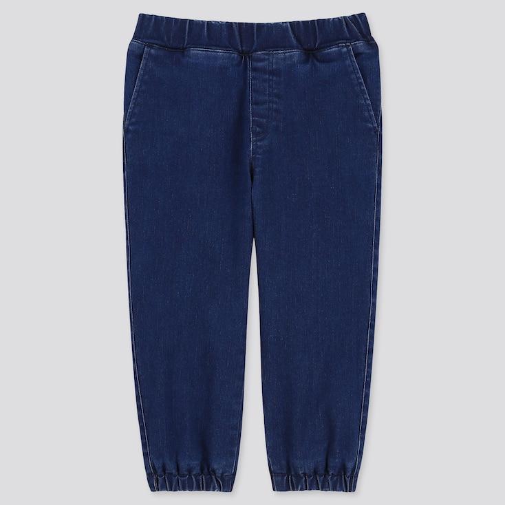 TODDLER STRETCH DENIM WARM-LINED PANTS, BLUE, large