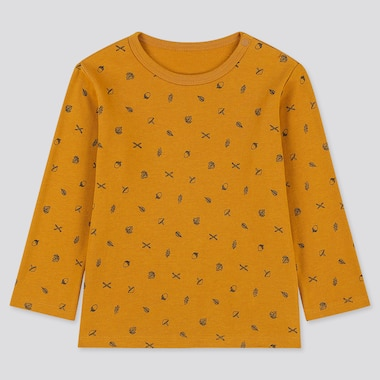 TODDLER CREW NECK LONG-SLEEVE T-SHIRT, YELLOW, medium