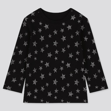 BABIES TODDLER STAR PRINT CREW NECK LONG SLEEVED T-SHIRT