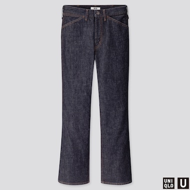 WOMEN UNIQLO U FLARED ANKLE LENGTH JEANS