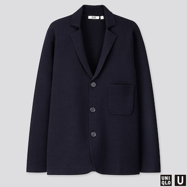 MEN U MILANO RIBBED JACKET, NAVY, medium