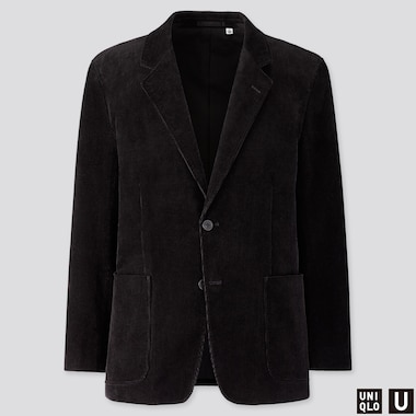 MEN U CORDUROY JACKET, BLACK, medium