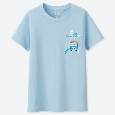 WOMEN PIXAR VACATION UT (SHORT-SLEEVE GRAPHIC T-SHIRT), BLUE, medium