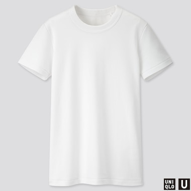 WOMEN U CREW NECK SHORT-SLEEVE T-SHIRT, WHITE, medium