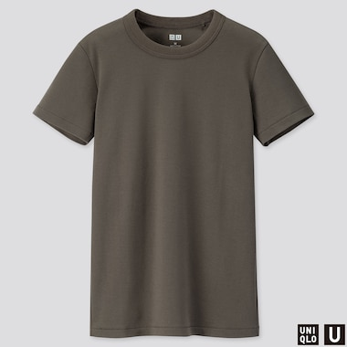 Women U Crew Neck Short-Sleeve T-Shirt, Olive, Medium
