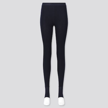 WOMEN HEATTECH EXTRA WARM PILE-LINED STIRRUP LEGGINGS, NAVY, medium