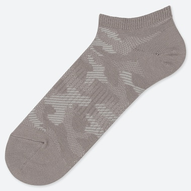 MEN CAMOUFLAGE SHORT SOCKS, DARK GRAY, medium