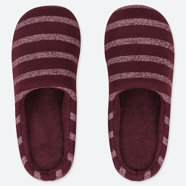 STRIPED SLIPPERS, WINE, medium