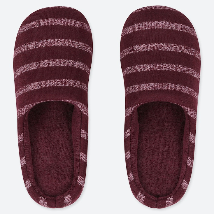 STRIPED SLIPPERS, WINE, large