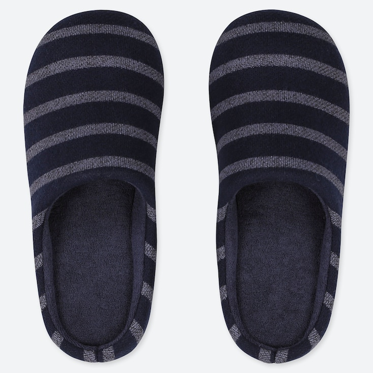 STRIPED SLIPPERS, NAVY, large