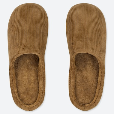 CORDUROY SLIPPERS, BROWN, medium