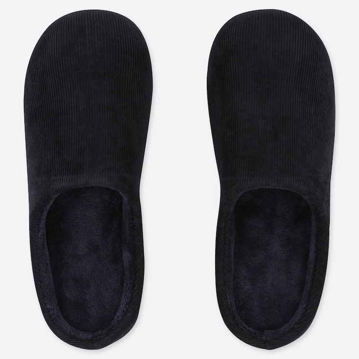 CORDUROY SLIPPERS, NAVY, large