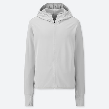 WOMEN AIRISM UV CUT MESH LONG SLEEVED HOODIE