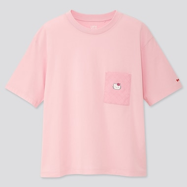 WOMEN SANRIO CHARACTERS UT (SHORT-SLEEVE GRAPHIC T-SHIRT), PINK, medium